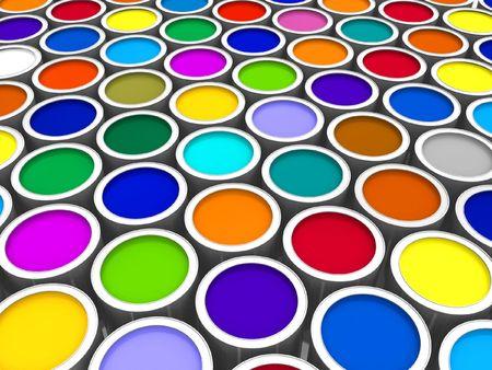 pantone: Color paint cans