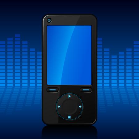 Portable media player Vector