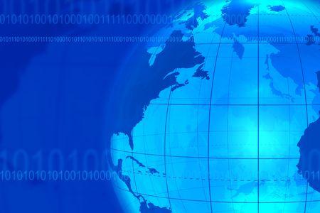 Blue businesscommunication background photo