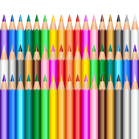Color pencils background Vector