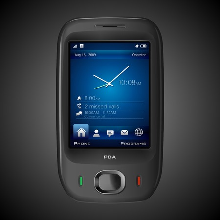 High-detailed photorealistic PDA Vector