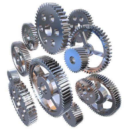 Group of steel gears