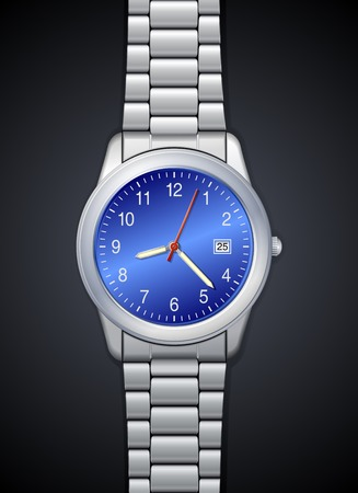 High-detailed photorealistic watch Vector