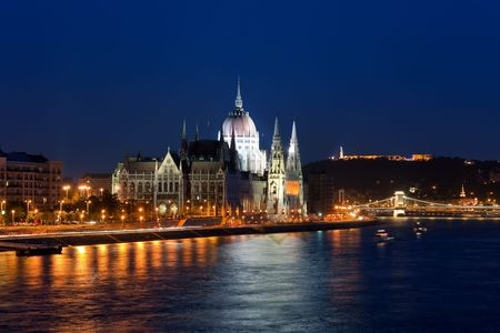 Parliament Hall in Budapest, Hungary photo