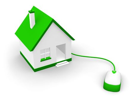 render residence: House and mouse Stock Photo