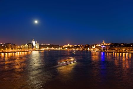 Night Budapest panorama photo