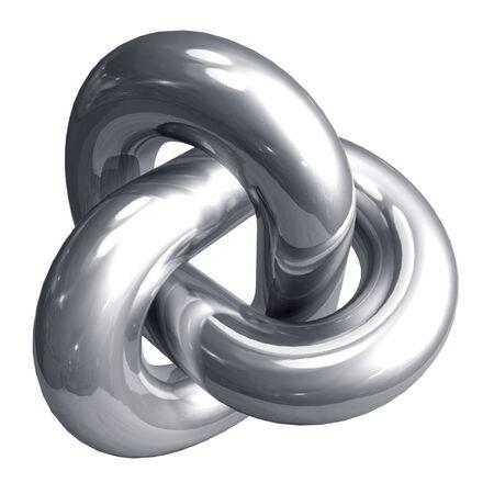 nudos: Forma abstracta de metal  Foto de archivo
