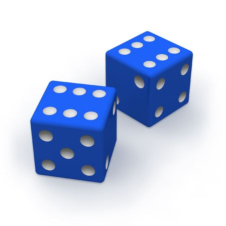 Blue dice Stock Photo - 5645265