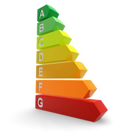 current: Energy efficiency rating Stock Photo