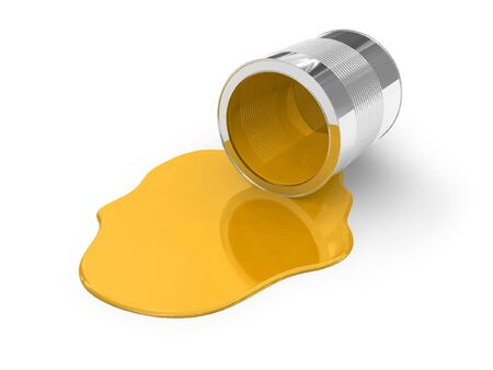 chemical material: Yellow spilled paint