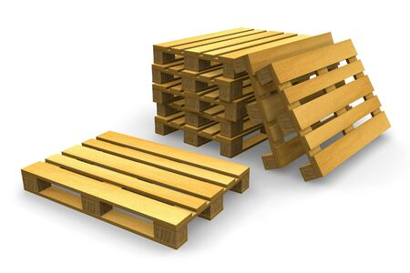 Shipping pallets Stock Photo - 5645273