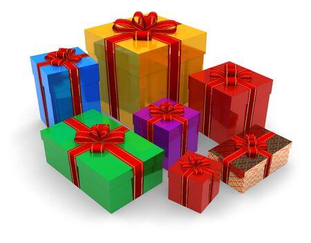 Set of gift boxes photo