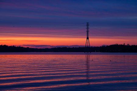 catenation: Sunset by the lake
