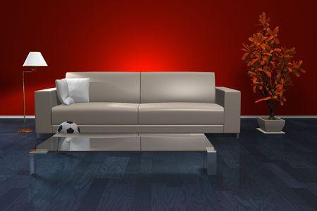 Stylish living room interior photo