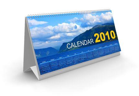 almanacs: Desk calendar 2010