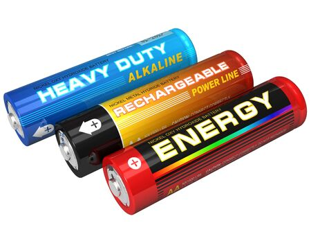 alkaline: Set of three AA batteries