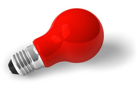 Single red lamp Stock Photo - 5767457