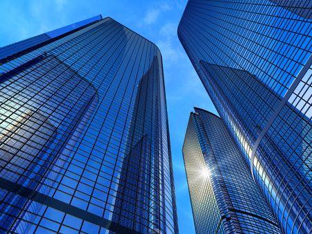 edificio cristal: Edificios modernos de negocio