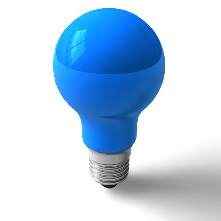 Blue lightbulb photo