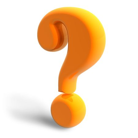 seeking an answer: Question mark