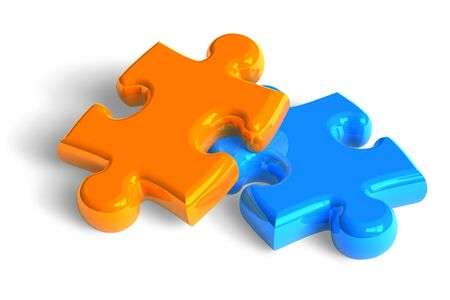 2 objects: Two puzzle pieces