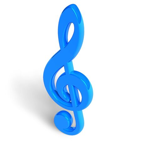 Blue treble clef photo