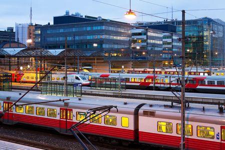 catenation: Central railway station in Helsinki, Finland Stock Photo
