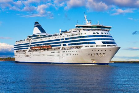 liner: Big cruise liner Stock Photo