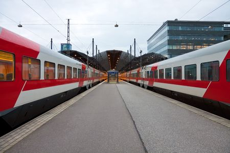 Central railway station in Helsinki, Finland photo