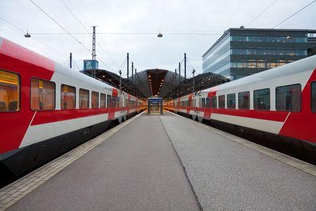 helsinki: Central railway station in Helsinki, Finland Stock Photo