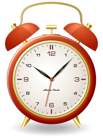old clock: Old style alarm clock