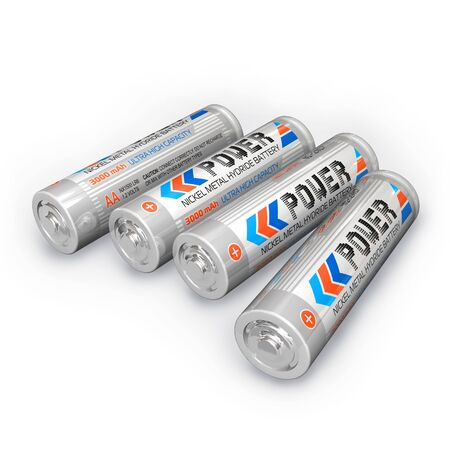 hydride: Four AA rechargeable batteries