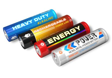 hydride: Set of four different AA batteries