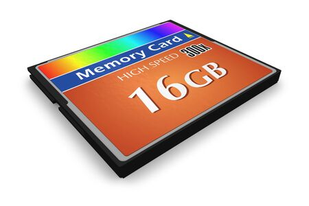 CompactFlash memory card Stock Photo - 6075802
