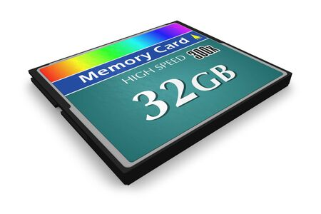 CompactFlash memory card photo
