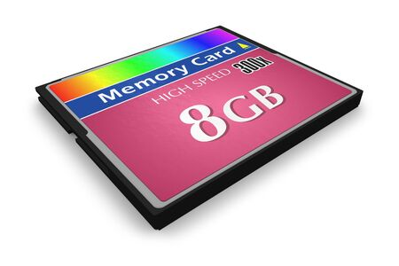 CompactFlash memory card photo
