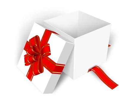 Lege geopende geschenk doos