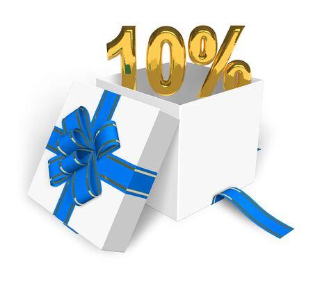 selloff: 10% discount concept