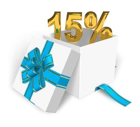 selloff: 15% discount concept