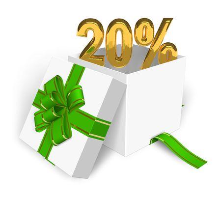 20: concepto de 20% de descuento