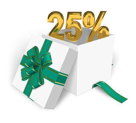 selloff: 25% discount concept