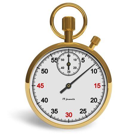 exactness: Golden stopwatch Stock Photo