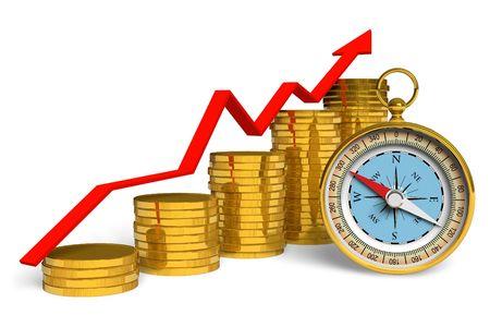 Financial compass photo
