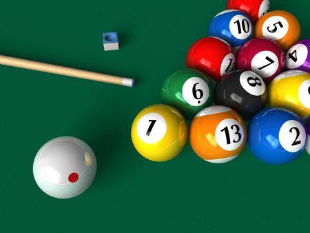 Billiard set photo