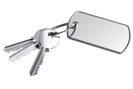 Keys with label Stock Photo - 6330424