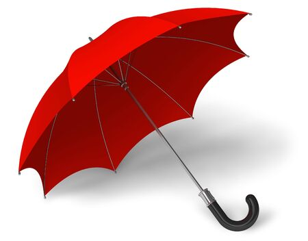 wetness: Red umbrella