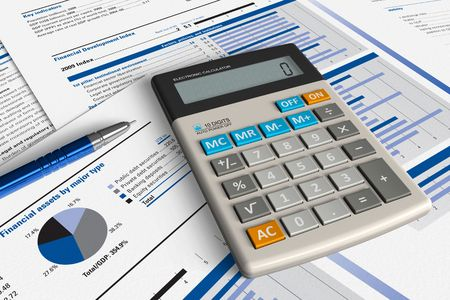credit report: Financial analysis concept
