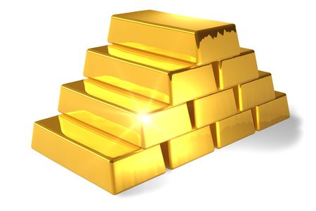 treasury: Gold bars Stock Photo