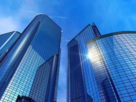 rascacielos: Edificios de oficinas modernas  Foto de archivo