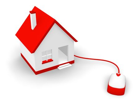 property management: Home communication concept